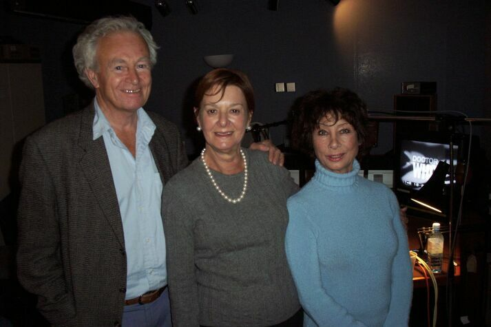 William Russell, Verity Lambert and Carole Ann Ford in the dubbing theatre.